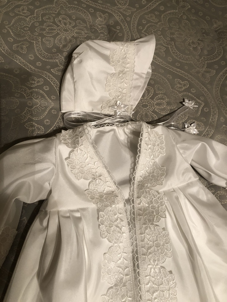 The Past Meets The Future: From Wedding Gown To Infant's Christening Gown